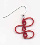 adv ribbon candy earring